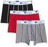Champion Boxer Coton X3 Bain, Multicolore (Noir/Gris/Rouge 8vp), Medium (Taille Fabricant:M) (Lot de 3) Homme