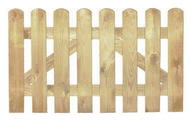 StaketenTür 'Premium' 100x60/60 cm - gerade – kdi / V2A Edelstahl Schrauben verschraubt - aus getrocknetem Holz glatt gehobelt – gerade Ausführung - kesseldruckimprägniert