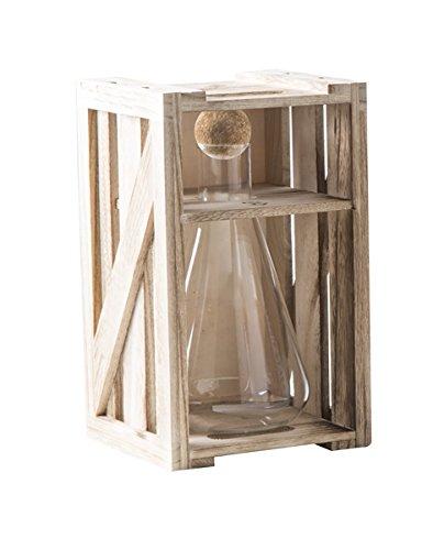 Brandani 54386alchimia decanter in vetro borosilicato con tappo in sughero, 750ml, trasparente