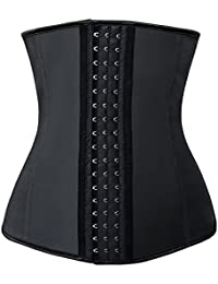 Charmian Women's Unusual Latex Steel Bone Waist Training Shaper Underbust corsé