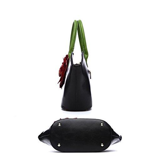 8e69dc1743064 Taschen Handtaschen Damen Einfach Henkel Tasche Elegant wasserdichte  Handtasche Kunstleder Schultertasche Rote