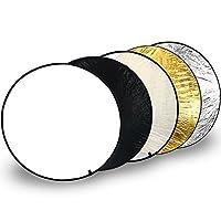 Diffuseur multifonctionnel et lentille réflectrice pour des résultats de photographie parfaits Outil parfait pour tous les photographes!  Que ce soit passe-temps ou profession!  Le disque diffuseur blanc-transparent est équipé d'un cadre métallique f...