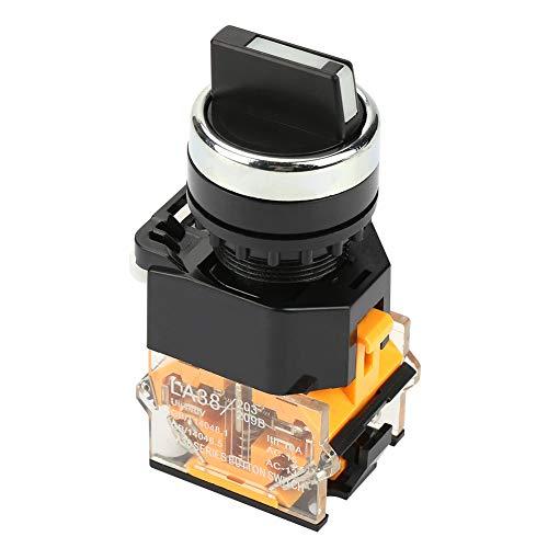 2-Positionen-Momentary-Drehschalter 22mm Wahlschalter für den Auto-Reset-Schalter LA38-11BX22