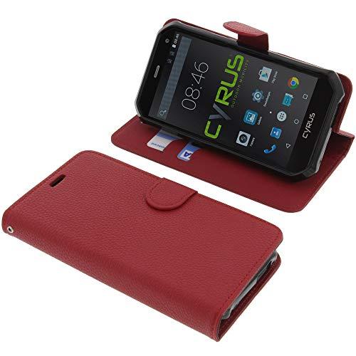 foto-kontor Tasche für Cyrus CS24 Book Style rot Schutz Hülle Buch