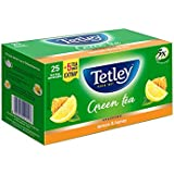 Tetley Green Tea, Lemon And Honey (25 Bags With 5 Tea Bags Extra)