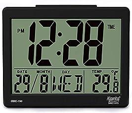 Ajanta Digital Table Clock (ODC-190 Black)