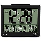 Ajanta Quartz Plastic Digital Alarm and Table clock, (8 x 7 x 3.5 cm, Black, ODC 190)