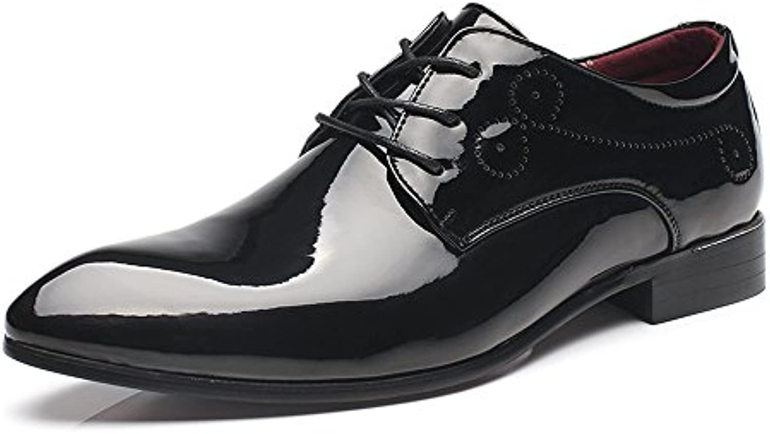 XHD-Scarpe Moda Uomo Brunito Smooth Cuoio Scarpe Scarpe Scarpe Classic Lace Up Business Oxfords Tuxedo | elegante