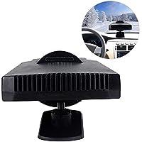 Cathy02Marshall Calentador Portátil para Interior Automóvil 12V-200W Universal Vehículos Refrigeración Secador Calentador Ventilador Descongelador Sin Ruido