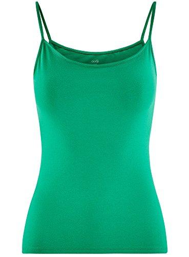 oodji Ultra Donna Top in Maglia a Bretelle Sottili Senza Etichetta Verde (6D00N)