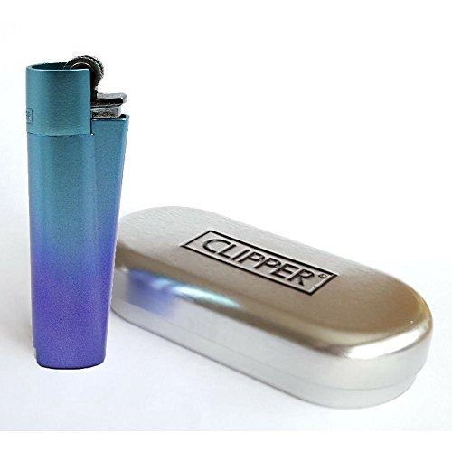 Clipper Feuerzeug Metall-Blue Gradient