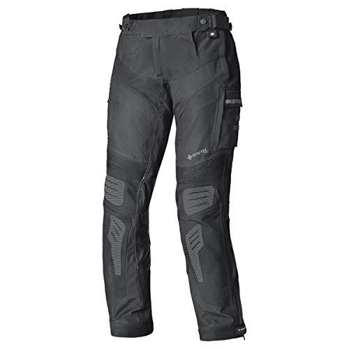 Held - Pantalone touring ATACAMA BASE nera per moto da uomo con membrana Gore-Tex Pro, fodera in mesh traspirante coolmax, protezioni sulle anche e ginocchia, inserti riflettenti 3M-Scotchlite (S)