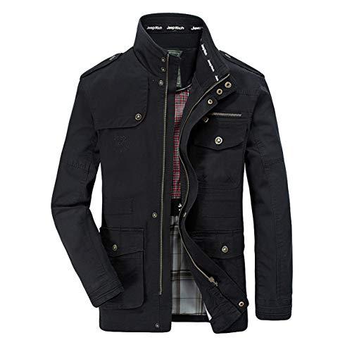 Mann warme Parka Trenchcoat männer Reißverschluss Mantel Junge Herbst Winter Mode Multi-Pocket Mittlerer Länge Langarm Jacke Mantel Moonuy