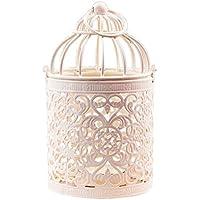Westeng 1 pcs Hierro Hollow candelabro romántica vela Farol Metal vela luces Vintage Classic europeo Decoración