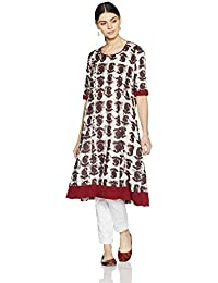 Indi lite Women's A-Line Cotton Kurta
