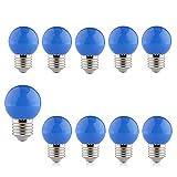 Azul Bombilla Decorativa 2W Led Luz Colores E27, B4U Bajo Consumo Larga Duración...