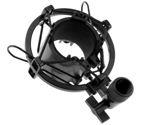 new-universal-metal-mic-microphone-shock-mount-holder-clip-studio-stand-black-uk