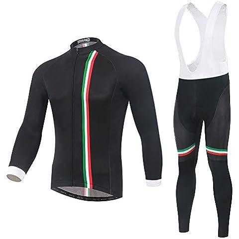 Spoz Men Cycling MTB Black Gel Padded Bid Jersey Set L
