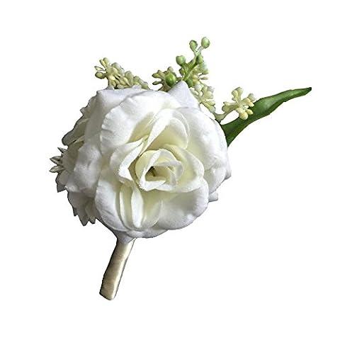 DIY Groom Boutonnières Best Man Boutonnière Bouquet Fleurs Artificielles Pour Mariage Décoration De Fête