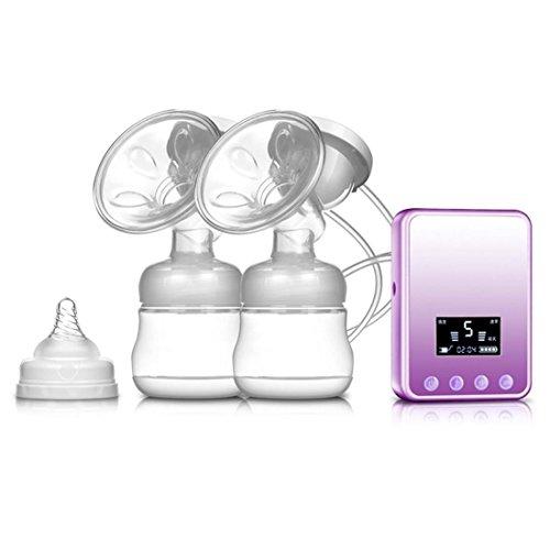 Leydee Doppio elettrica massaggio Tiralatte -silenzioso display a motore di conversione di frequenza di riflusso Protezione LCD BPA pompa libera del seno con costruito in batteria ricaricabile , c