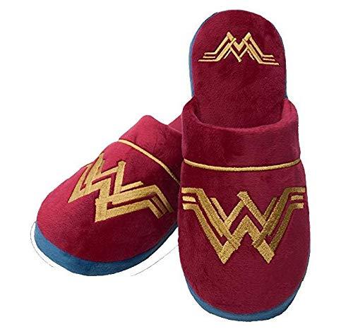 DC Comics Wonder Woman House Shoes Mujer/Señoras Red Logo Zapatillas