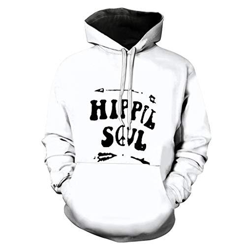 jkhhi Kapuzensweater Kapuzenpullover Kapuzenjacke Sweatshirt Pullover Herren Kapuzenshirt 3D Fashion Drucken Pullover Sweatshirt Locker Langarm Tops Outwear - Langarm-duo