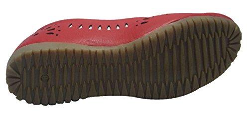 Sammy style mocassin de glissement des femmes sur les ballerines chaussures de ballet de chaussures casual Rouge