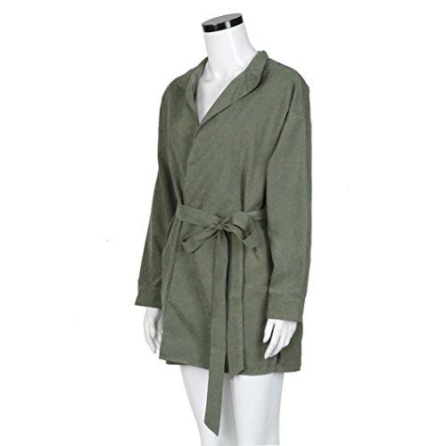 Zolimx Mode Frauen Dünne Jacke Windbreaker Outwear Wolljacke Mantel - 8