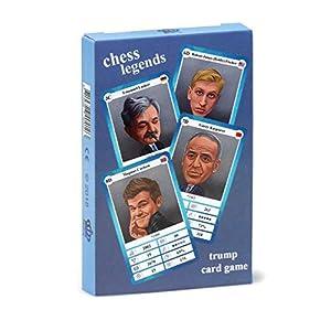 Cuarteto de Ajedrez – Juego de Cartas con 32 Leyendas históricas del ajedrez, para niños y Adultos