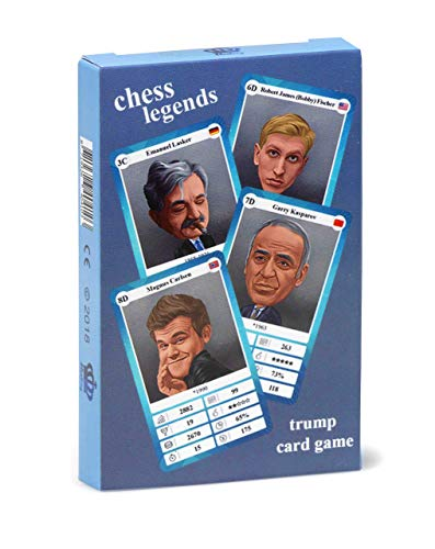 Schach Quartett - Trumpf Kartenspiel mit 32 Schach-Legenden für Kinder und Erwachsene