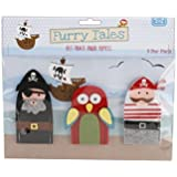 Furry Tales Felt Pirate Figures Finger Puppets (3)