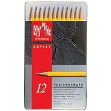 Caran d-Ache 6b-4h 4H 12pieza (S) lápiz grafito–lápices de grafito (4H, amarillo, hexagonal, 2,1mm, 12pieza (S))