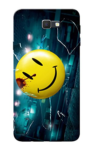 Galaxy J7 Prime Case, Ek Villain Smiley Yellow Blue Slim Fit Hard Case Cover/Back Cover for Samsung Galaxy J7 Prime  available at amazon for Rs.99
