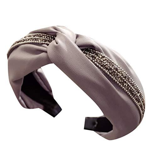 Younthone Damen Kopfband Haarspange,Womens Stirnband Haarband Bogen Knoten Kreuz Strass Headwrap Haarband Hoop speciales neues Design für Damen