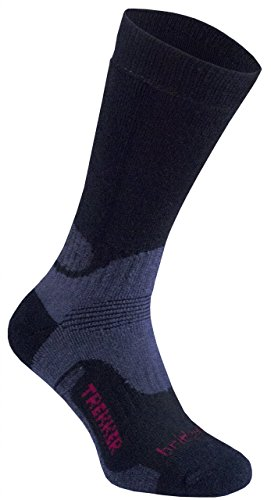 Bridgedale Herren Woolfusion Trekker Socken, Schwarz, 12 Jahre (Bridgedale Socke Trekker)