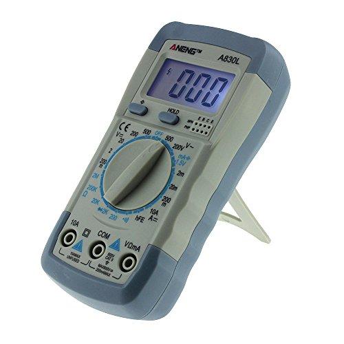 Cyond Handheld Digital Voltmeter, Amperemeter, Ohmmeter, Multimeter, Volt AC DC Tester für drahtlose Enthusiasten in Schulen, Betrieben, Heimen und Amateuren (Grau)