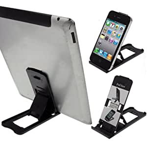 LUPO Tablet iPad Stand Holder - Universal Mobile Phone Mini Folding Cradle - Compatible with all Tablets, iPad's, iPhone's Samsung Galaxy HTC Nokia Sony Ericsson Smartphones