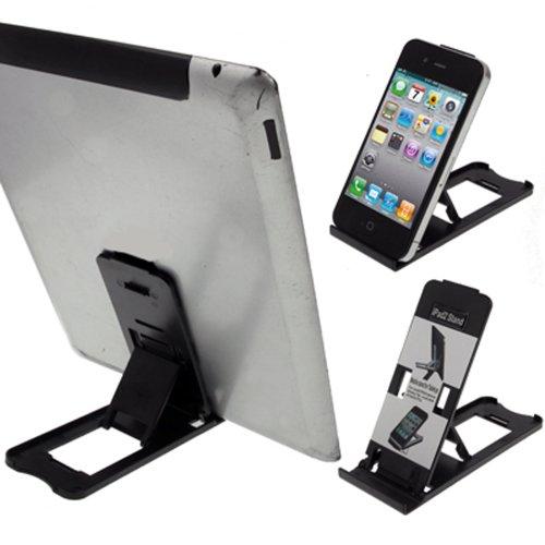 LUPO universale pieghevole regolabile in plastica Supporto da tavolo per tutti gli iPad, iPhone, tablet e telefoni cellulari