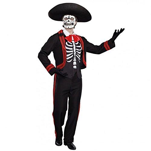 Dreamgirl AG Mariachi Kostüm Zum Tag der Toten Gr. M Anzug La Catrina Halloween ()