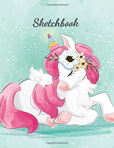 Sketchbook Unicorn: Paperback Notebook For Journaling, Amazing Design Sketchbook For Sketching And Drawing.(110 Pages, Blank, 8,5 x 11) - Design Sketchbook