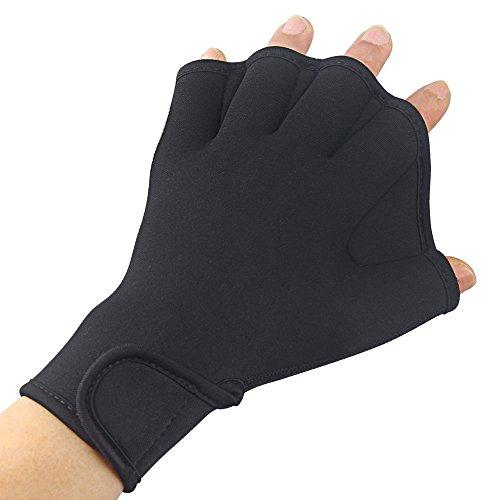 Efanr, 1paio di guanti da allenamento Aqua Fit, guanti palmati da nuoto per sport acquatici, resistenti all'acqua, per donne, uomini...