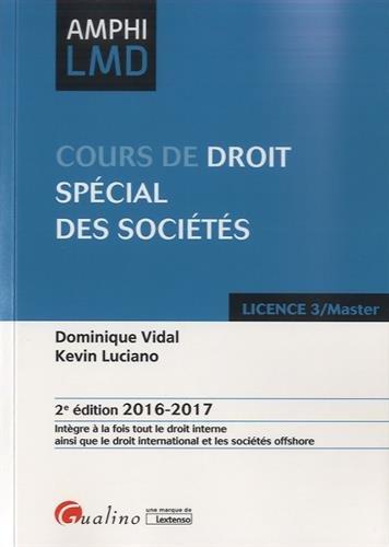 Cours de droit spécial des sociétés
