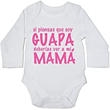 HippoWarehouse Si Piensas que soy guapa Deberías ver a mi Mamá body manga larga bodys pijama