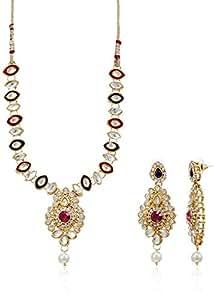 Sia Art Jewellery Gold Plated Set for Women (Golden) (AZ1812)