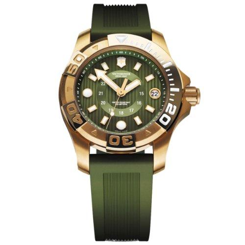 Victorinox Professional Dive Master 241557 - Orologio da polso da uomo, cinturino in caucciù colore verde
