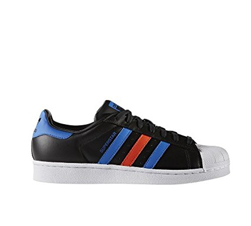 Adidas Mens Superstar Synthetic Trainers Noir