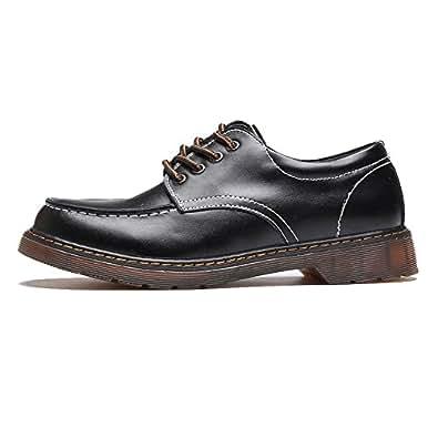 Chaussures en cuir pour hommes classiques en cuir de vachette véritable Slip-on en cuir à semelle plate pour les messieurs Chaussures de sport en cuir pour hommes ( Color : Black , Size : 38 EU )