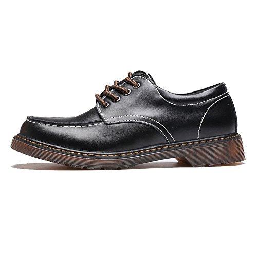 f08807ce Xinke Botines con Cordones para Hombres con Cordones Zapatos Oxford  clásicos con Cordones Botines de Cuero