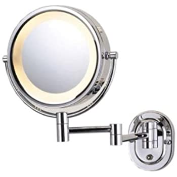 Illuminated wall mounted cosmetic shaving guest room mirror in illuminated wall mounted cosmetic shaving guest room mirror in chrome aloadofball Choice Image