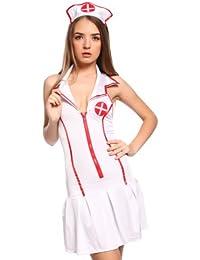 Sexy Damen Kostuem Krankenschwester Artzt aerztin Nurse Uniform Fasching Karneval halloween